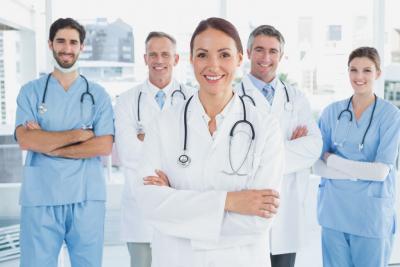 team of doctors smiling